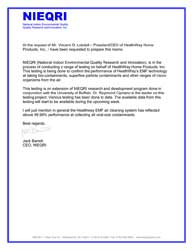 Письмо о результатах тестирования HealthWay
